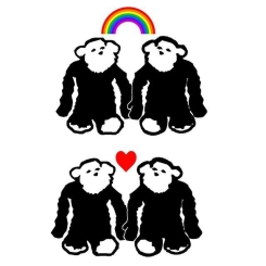 Monkey Hearts and Rainbows