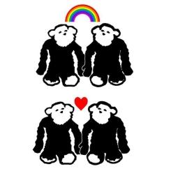 Monkey Hearts and Rainbows