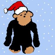 Monkey Santa Square