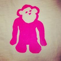 Hot Pink Glitter Monkey